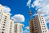 Construction of residential complex — Stock Photo