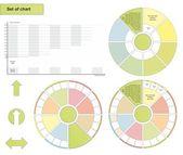Set of chart — Stock Vector