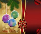 Christmas, new year, postcard. — Stock Vector