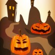 Halloween , postcard . - Stock Vector