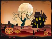Halloween , postcard . — Vector de stock
