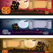 Royalty-Free Stock Imagen vectorial: Halloween , postcard .