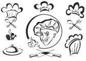Chef , cook , logotype — Stock Vector