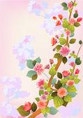 çiçekler sakura. — Stok Vektör