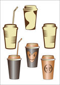 Paper cup with coffee — Stock Vector