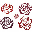 Stock Vector: Rose . icons .tattoo .