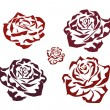 Rose . icons .tattoo . - Stockvectorbeeld