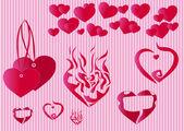 Heart ,love , postcard . — Stock Vector