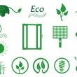Royalty-Free Stock Vector Image: Ecology icon set. Eco-icons.