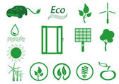 Ecology icon set. Eco-icons. — Stock Vector