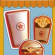 Grunge Cover for Fast Food Menu - Stock Vector