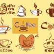 Coffee , logotype , menu . icons . — Stock Vector