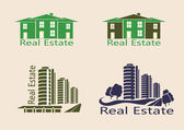 Real estate logo , icons . — Vector de stock