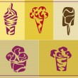 Ice cream . icons . — Stock Vector