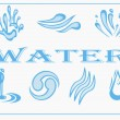 Water Icon Set. Vector Illustration.  — Stock Vector