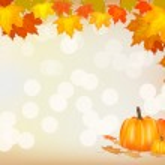Autumn pumpkin holiday postcard — Stock Vector