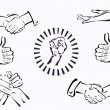 Vector set of hands and gestures  — Stock Vector
