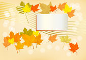 Autumn holiday postcard — Stockvector