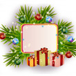 Stock Photo: Christmas card with gift boxes
