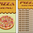 Stock Vector: Pizza, menu , restaurant , vector illustration