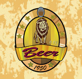 Banners on topic with beer , beer lion — Stock Vector