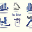 Stock Vector: Set of vector icons Real Estate