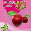 Fresh apple juice Banner — Vector de stock