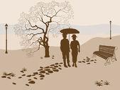 Banner vector ,loneliness, elderly family — Stock Vector