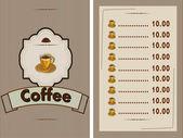 Restoran ve kafe için banner — Stok Vektör