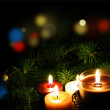 Christmas Candles — Stock Photo #10686857