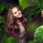 Beautiful Girl in Jungle — Stock Photo #12801108