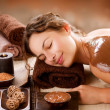 Stock Photo: Spa Chocolate Mask. Luxury Spa Treatment