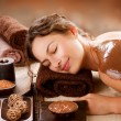 Spa Chocolate Mask. Luxury Spa Treatment - Stock Photo