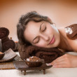 Spa Chocolate Mask. Luxury Spa Treatment — Stock Photo #12800910