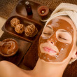 Chocolate Mask Facial Spa. Beauty Spa Salon — Stock Photo #12800970