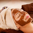 Chocolate Mask Facial Spa. Beauty Spa Salon — Stock Photo #12800972