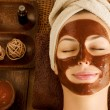 Chocolate Mask Facial Spa — Stock Photo #12800975