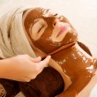 Chocolate Mask Facial Spa. Beauty Spa Salon — Stock Photo #12801045