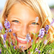 Beautiful Girl With Lavender — Foto de Stock