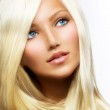 Beautiful Blond Girl isolated on a White Background — Stock Photo #12801445