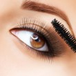 Makeup. Make-up. Applying Mascara. Long Eyelashes — Стоковое фото #12801848