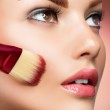 Cosmetic. Base for Perfect Make-up. Applying Make-up — Stock Photo #12801886