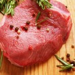 Raw Beef Steak - Stock Photo