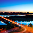 Kiev City - the capital of Ukraine. Night View - Zdjęcie stockowe