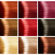 Hair Colors Palette - Stock Photo