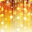 Stock Photo: Golden Abstract Holiday background