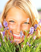 Beautiful Girl With Lavender — Stock Photo