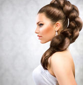 Piękne długie włosy — Zdjęcie stockowe