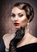 Retro Style Portrait. Romantic Beauty. Vintage — Stock Photo