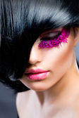 Moda esmer model portre — Stok fotoğraf